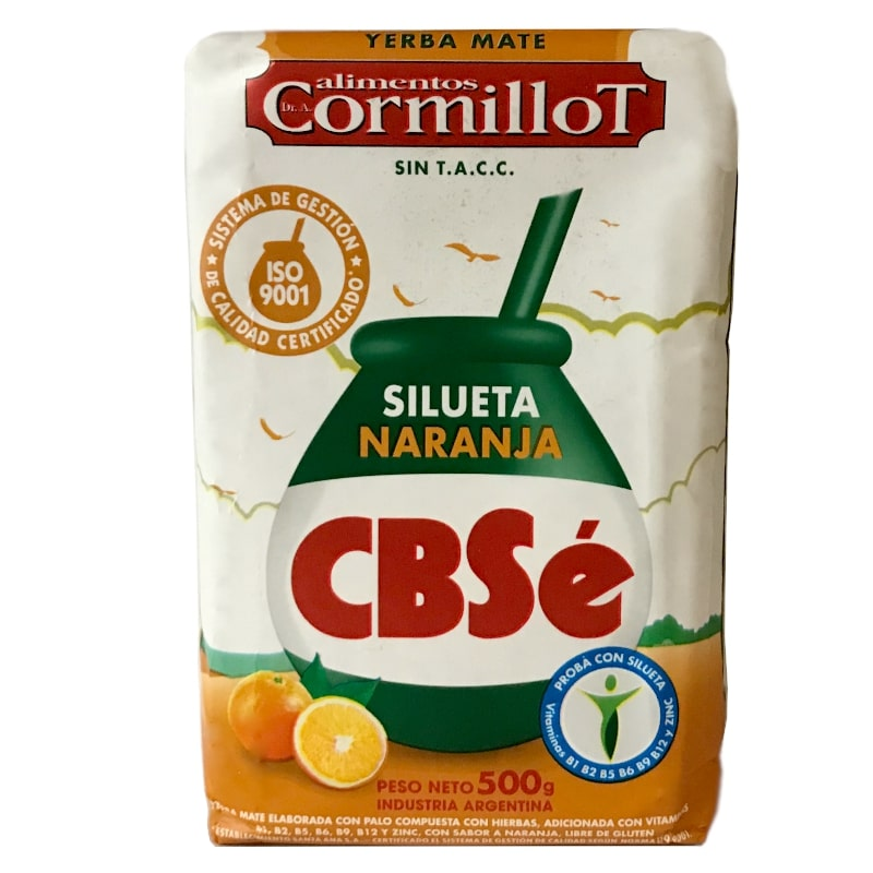 CBSe Yerba Mate Silueta Orange avec tiges 500g