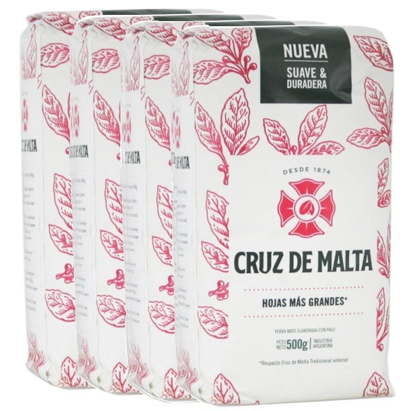 Pack 4 Cruz De Malta Yerba Maté avec tiges