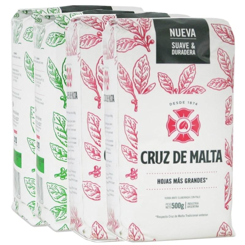 Pack 4 Cruz de Malta Té Verde & Suave avec tiges