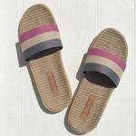 Bernadette3 sandalettes Les mauricettes rose grise pour la plage