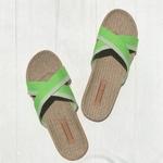 Chantal5 sandalette mode verte femme pour la plage