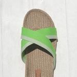 Chantal7 Claquette de plage verte femme