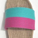 Claudine3 les mauricettes claquettes confortables bicolores en lin