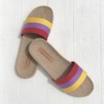 Ginette1 les mauricettes rayures lin et coton chaussures confortables