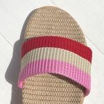 Joséphine3 les mauricettes rayures roses chaussures confortables dété