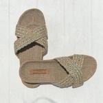 Simone5 les mauricettes pantoufles dété beige pour femme