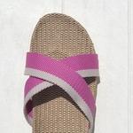 Patricia1 les mauricettes sandalettes de plage femme roses