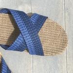 Les Mauricettes de Raoul claquettes homme couleur bleu été légères