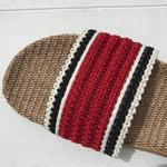 Les Mauricettes claquettes plage rouge femme légères pour femme