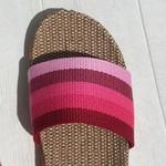 Claquettes les Mauricettes roses femme légères et confortables