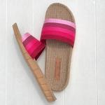 Claquettes les Mauricettes roses femme légères et confortables pour les voyages