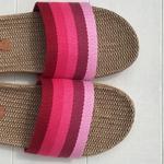 Claquettes les Mauricettes roses femme légères et confortables pour la plage