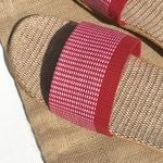 Les Mauricettes claquettes voyage légères rouges confortables  pour femme
