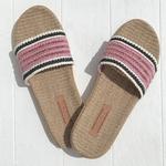 les mauricettes claquettes legeres de vacances et plage roses