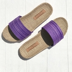 Les Mauricettes de Sidonie claquettes plage et vacances légères violette