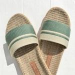 les mauricettes sandalettes dété kaki et beige confort