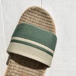 les mauricettes sandalettes dété kaki et beige lin