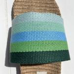 les Mauricettes dOlympe claquettes rayées vert légères pour été