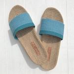 Les Mauricettes claquettes de plage bleu super légères summer