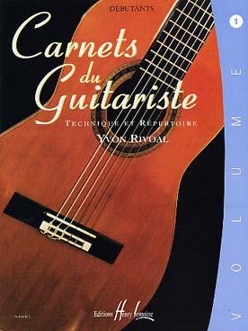 CARNETS DU GUITARISTE VOL 1