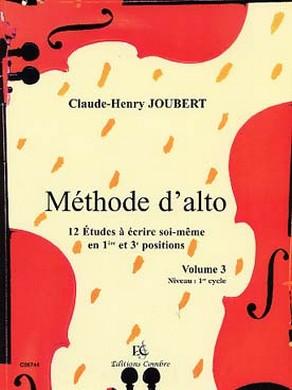 JOUBERT METHODE ALTO VOL 3
