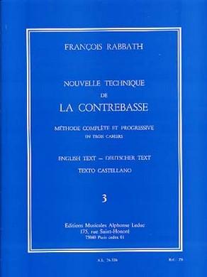 NOUVELLE TECHNIQUE DE LA CONTREBASSE VOL 3