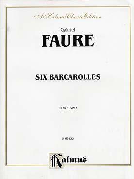 6 BARCAROLLES