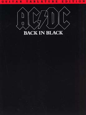 ACDC BACK IN BLACK GUITARE TABLATURES