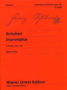 SCHUBERT IMPROMPTUS OP 142