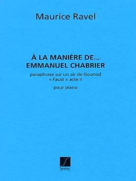 A LA MANIERE DE CHABRIER