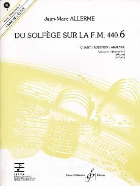 DU SOLFEGE SUR LA FM VOL 6 CHANT ELEVE + CD