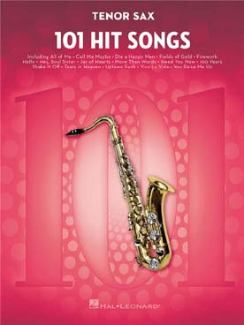 101 HIT SONGS FOR TENOR SAXOPHONE