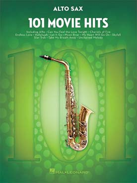 101 MOVIE HITS SAXOPHONE ALTO