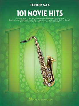 101 MOVIE HITS SAXOPHONE TENOR