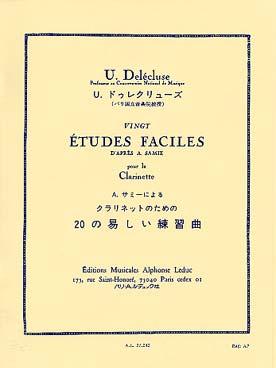 DELECLUSE 20 ETUDES FACILES