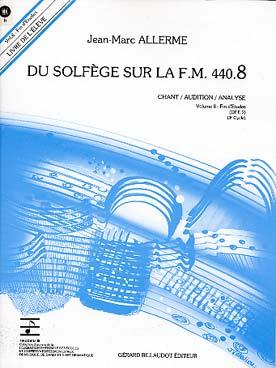 DU SOLFEGE SUR LA FM VOL 8 CHANT ELEVE + CD