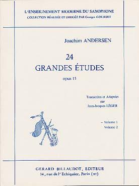 ANDERSEN 24 GRANDES ETUDES VOL 1