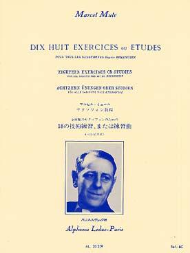 BERBIGUIER 18 EXERCICES OU ETUDES