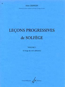 LECONS PROGRESSIVES DE SOLFEGE
