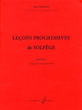 LECONS PROGRESSIVES DE SOLFEGE VOL 2