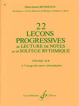 22 LECONS PROGRESSIVES DE SOLFEGE VOL 3B