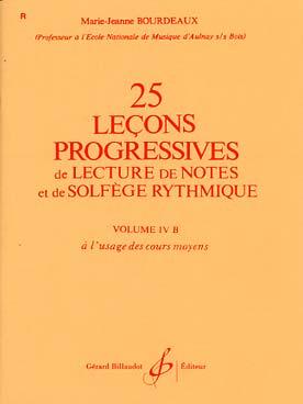 25 LECONS PROGRESSIVES DE SOLFEGE VOL 4B