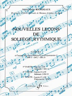 NOUVELLES LECONS DE SOLFEGE RYTHMIQUE VOL 1