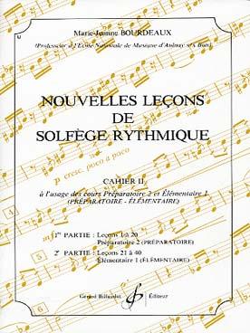 NOUVELLES LECONS DE SOLFEGE RYTHMIQUE VOL 2