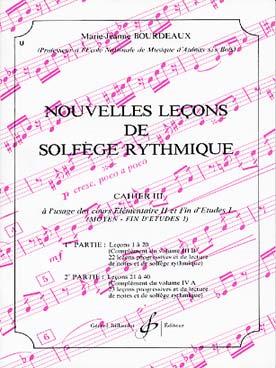 NOUVELLES LECONS DE SOLFEGE RYTHMIQUE VOL 3