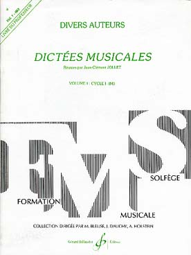 DICTEES MUSICALES VOL 1 PROF