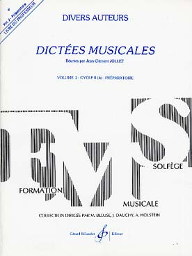 DICTEES MUSICALES VOL 2 PROF