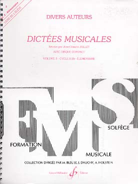 DICTEES MUSICALES VOL 3 ELEVE