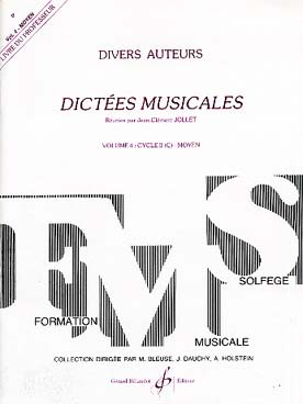 DICTEES MUSICALES VOL 4 PROF