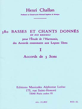 380 BASSES ET CHANTS DONNEES VOL 1A